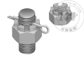 不锈钢和开口销配合使用六角防松螺母