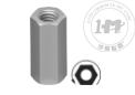 左旋低强度碳钢连接螺母