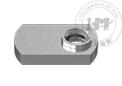 不锈钢偏心窄底座焊接螺母