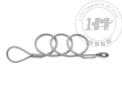 环-闭口端子可伸缩钢丝系索绳(非起重用)